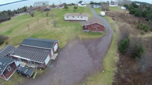 Sample aerial photograph of a site in eastern Canada with a forensic engineering problem.